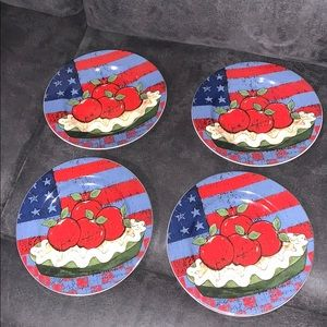 SET OF 4 SAKURA AMERICA AS APPLE PIE PLATES
